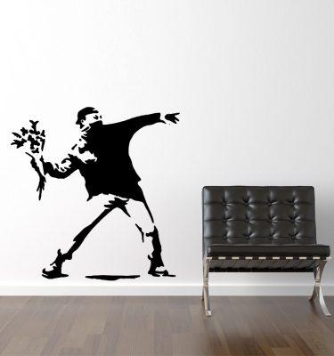 Blomster aktivist - Banksy