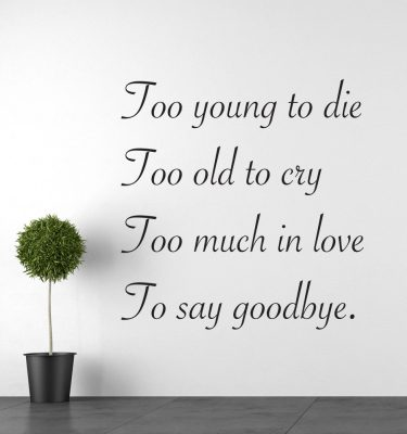 Too old to cry